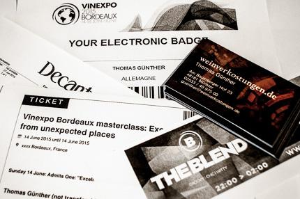 Vinexpo 2015 in Bordeaux, ich freu mich drauf