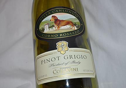 Der Dackelwein: Collavini Pinot Grigio