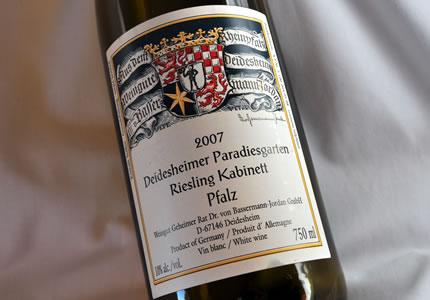 Bassermann-Jordan Deidesheimer Paradiesgarten Riesling Kabinett 2007
