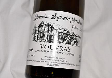 Domaine Sylvain Gaudron Vouvray Demi-Sec 2008