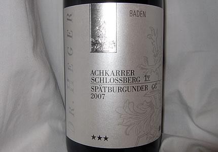 Dr. Heger Achkarrer Schlossberg Spätburgunder Großes Gewächs 2007
