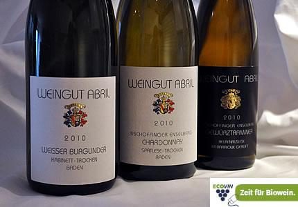 Ecovin: Drei Weine vom Weingut Abril