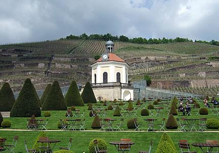 restaurierte Mauern vom Schloss Wackerbarth