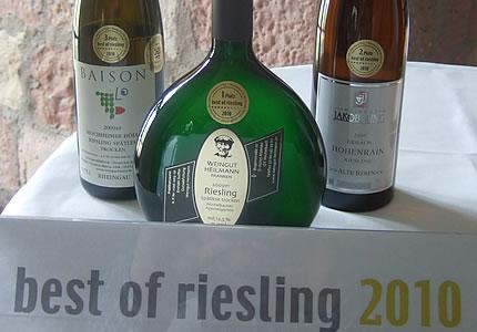 Gewinner bei best of riesling 2010