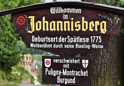 Schloss Johannisberg und die Geschichte mit der Spätlese