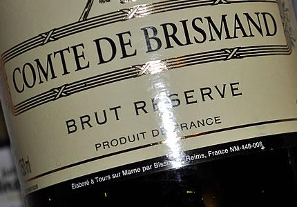 Lidl-Champagner Comte de Brismand