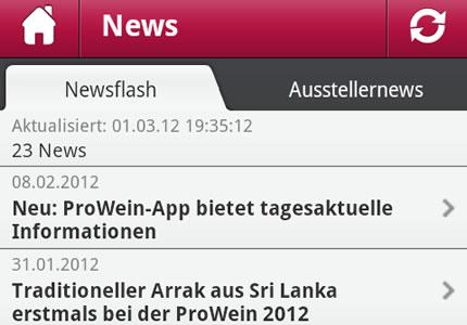 Messe Düsseldorf: Die ProWein-App