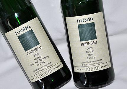 Weingut Mohr mit Lorcher Krone, Bodental-Steinberg und Assmannhäuser Höllenberg
