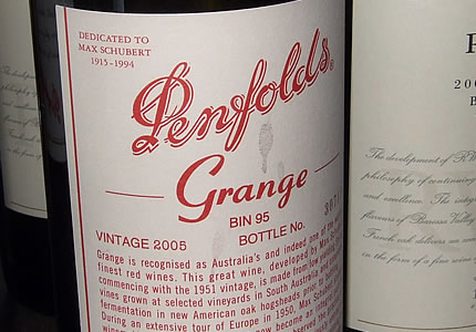 Luxury & Icon Penfolds Grange