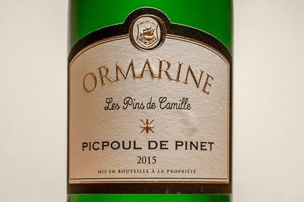 Picpoul de Pinet Ormarine Les Pins de Camille