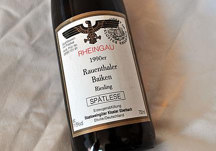 Kloster Eberbach 1990er Rauenthaler Baiken Riesling Spätlese