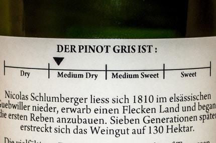 Schlumberger Pinot Gris Mangokern