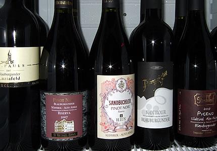 Weinverkostung Südtirol Blauburgunder und Lagrein
