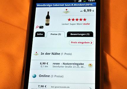 Vino Mobile oder die Wein-App zum Einkaufen