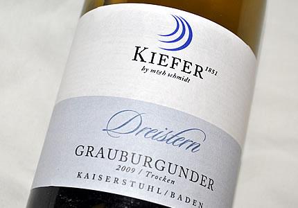 Weingut Kiefer Grauer Burgunder Dreistern