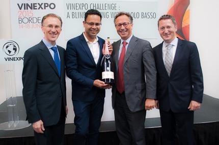 Die große Challenge auf der Vinexpo: Ein Blind-Tasting mit Paolo Basso